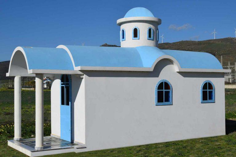 Προκάτ Νησιώτικο εκκλησάκι, Κάρυστος, Εύβοια